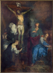 Bruges - The Crucifixion paint in st. Jacobs church