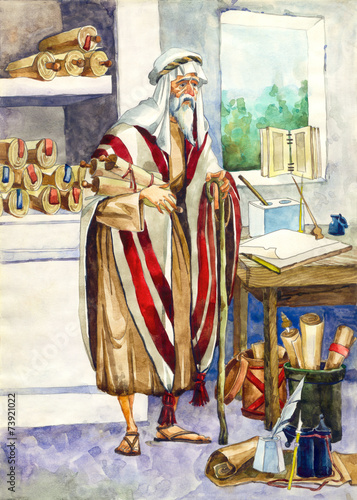 Poster Ancient Israel. Scribe
