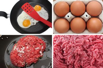 Steak à cheval - Viande hachée  Oeuf sur le plat