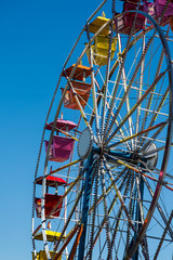 Colorful Ferris Wheel on Blue