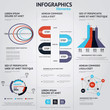 Big set of infographic elements. Flat style. Vector