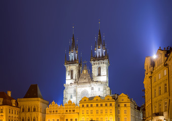 Church of our Lady Tyn (1365) in the Magical city of Prague