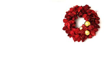 Christmas card decoration of wreath