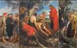 Leinwanddruck Bild - Mechelen -  The Miracle fishing triptych  by Peter P. Rubens