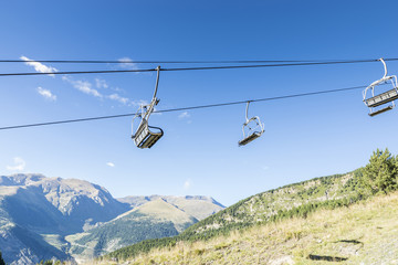Ski lifts in the ski resort