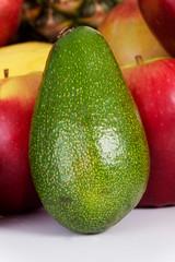 Photo of healthy green avocado