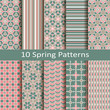 set of ten spring patterns