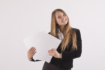 Cheerful business woman