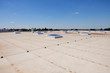 canvas print picture - flat roof on industrial hall