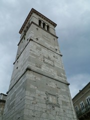 The tower of the Parish church of St Mary of Snow in Cres