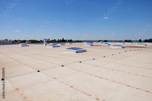 Foto op Plexiglas Industrial geb. flat roof on industrial hall