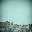 Leinwanddruck Bild - damaged stone wall