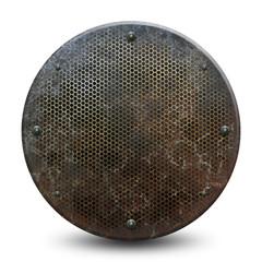 Plaque métallique grunge