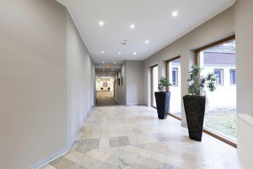Corridor in luxury hotel