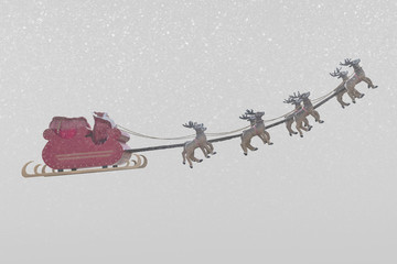 Santa Claus and snow weather