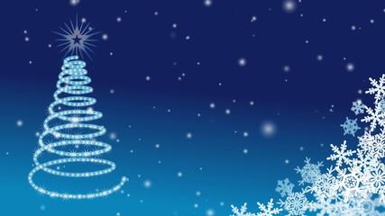 Christmas tree Illumination - Blue