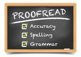 Fototapety Blackboard Proofread