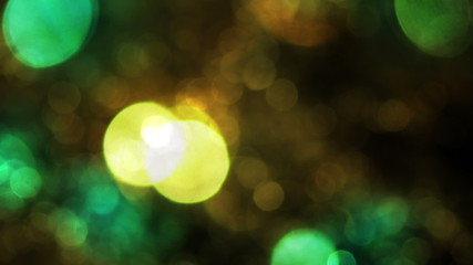 Bokeh Particles on a Dark Background