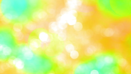Bokeh Particles on a Yellow Background
