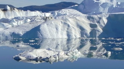 arctic icefjord reflection
