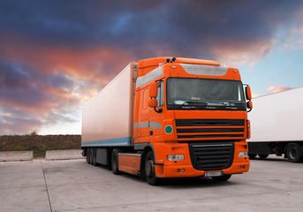 Truck at sunet