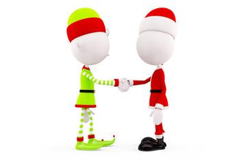 Santa and Elves for christmas