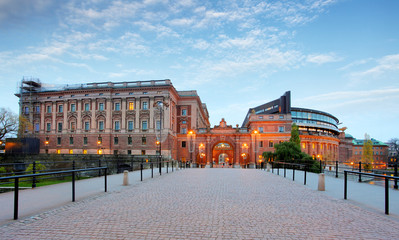 Riksdag - Swedish Parliament. Stockholm