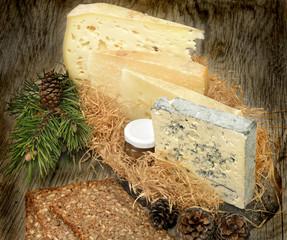 tagliere di formaggi vintage