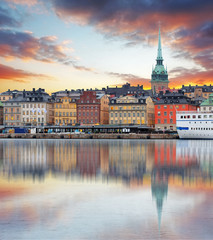 Stockholm, Sweden - panorama of the Old Town, Gamla Stan