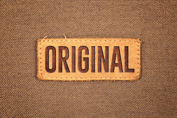 Original Leather Label Tag