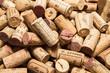 Leinwandbild Motiv old wine corks