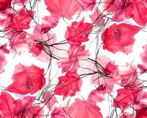 Floral Swirls Decorative Background