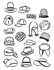 Contours of women's hats