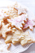 canvas print picture - Iced Christmas cookies with sugar pearls