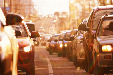 traffic on the road in a European city