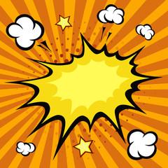 Comic book explosion, vector illustration