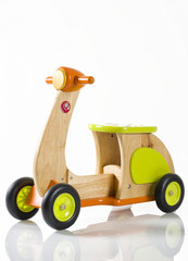 wooden toy scooter