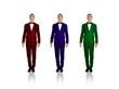 three businessmans
