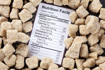 Nutrition facts of brown cane sugars