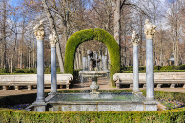 Fountain of the boy with the thorn, Aranjuez (Spain)