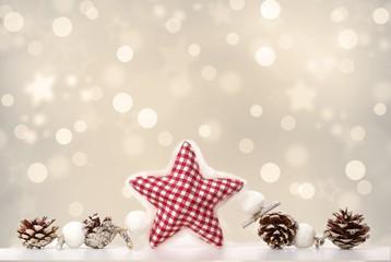 Weihnachtliche Deko mit Textfreiraum