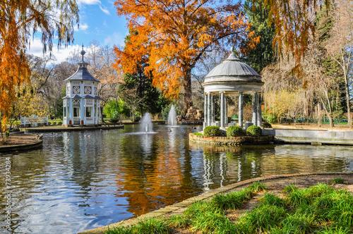 Aluminium Madrid Chinescos pond, Prince's garden, Aranjuez (Madrid)