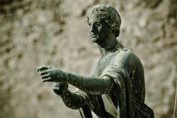 Apollo statue in Pompeii.