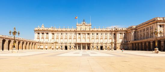 Palacio Real in sunny day. Madrid