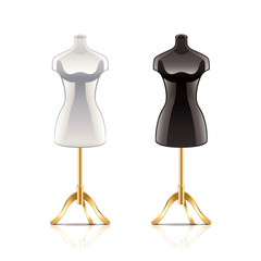 Mannequin isolated on white vector