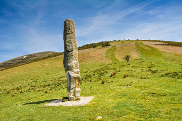 Menhir of Arlobi, Gorbea Natural Park, Alava (Spain)