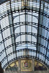 Glass roof of Milan gallery