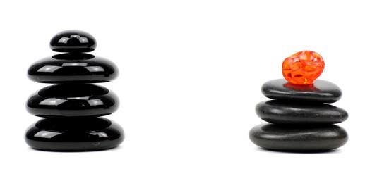 zen basalt stones..