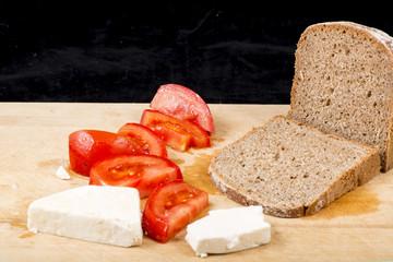 Cheese, Tomato, Bread