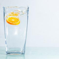 Orange im Glas
